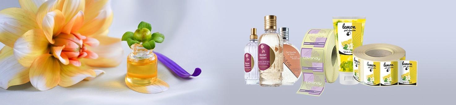 Etiquettes cosmétiques personnalisées en ligne adhésive autocollante