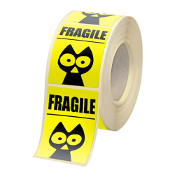 Etiquette adhésive autocollante - Etiquettes boutiques papier fluo jaune