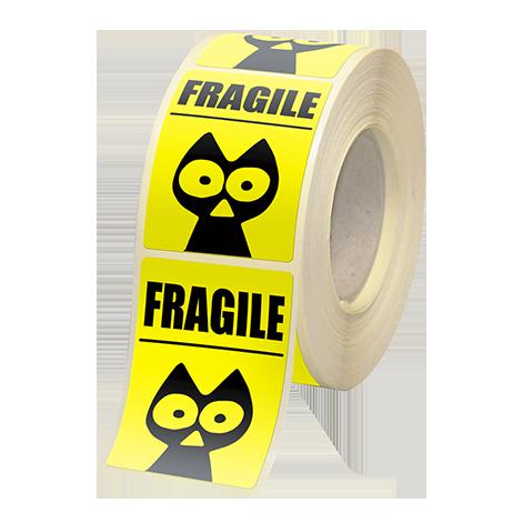 Etiquettes boutiques papier fluo jaune adhésive autocollante