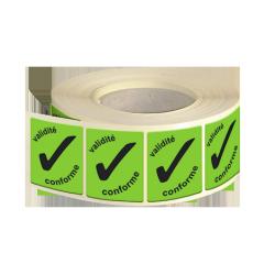 Etiquette adhésive autocollante - Etiquettes industries papier fluo vert