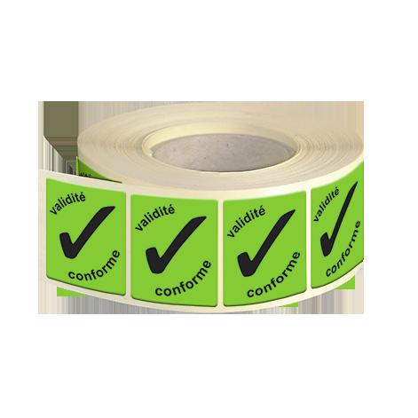 Etiquettes industries papier fluo vert adhésive autocollante