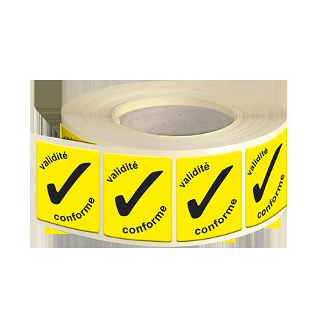 Etiquettes industries papier fluo jaune adhésive autocollante