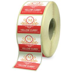 Etiquettes agroalimentaires papier canne fibre adhésive autocollante