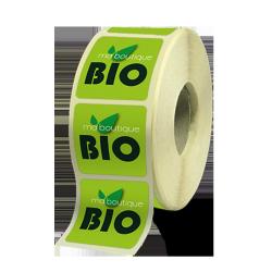 Etiquettes boutiques papier canne fibre adhésive autocollante