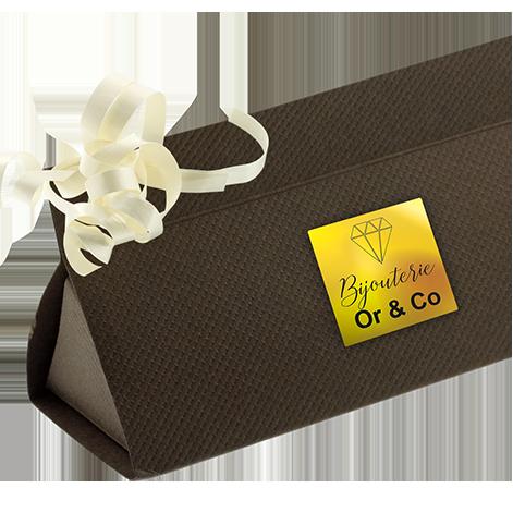 Etiquettes boutiques papier or brillant adhésive autocollante