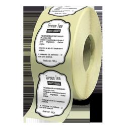 Etiquettes boutiques papier velin adhésive autocollante