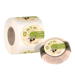 Etiquette adhésive autocollante - Etiquettes cosmétiques papier canne fibre