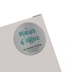 Etiquette adhésive autocollante - Etiquettes boutiques polyester alu brossé quadri sans blanc