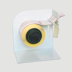 Etiquette adhésive autocollante - Distributeur manuel métal largeur maxi 60mm