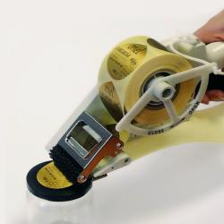 Etiquette adhésive autocollante - Applicateur manuel largeur maxi de 25 à 55mm